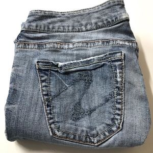 Women's Tuesday Distressed Silver Jeans